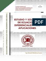 Estudio y Solución de Ecuaciones Difierenciales y Sus Aplicaciones