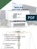C2 - clasificarea dr reale, dreptul de proprietate.ppt