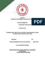 Economía Internacional de cuba
