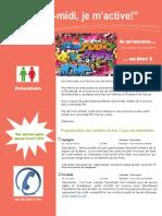 Dépliant Publicitaire Activités Mercredis PM Bloc 2 Préscolaire 2015 2016