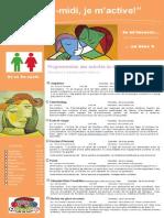 Dépliant Publicitaire Activités Mercredis PM Bloc 2 2e Et 3e Cycle 2015 2016