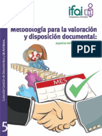 Manual Curso Metodología Para La Valoración y Disposición Documental