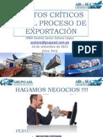 Puntos Críticos en La Exportacion Drawback