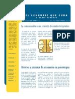 Reporte de Lectura El Lenguaje Que Cura