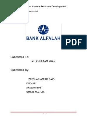 18977219 Bank Alfalah Limited Project of Human Resource