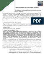 Consentimiento y Acuerdo de Servicios Psicologicos Para El Cliente
