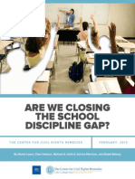 Closing the School Discipline Gap in California
