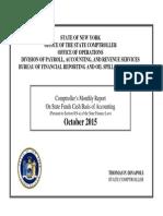 DiNapoli October 2015 Cash Report