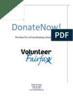 DonateNow - The Donation Drive Planning Kit