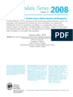 Active Surveillance for Prostate Cancer AUA Update 33 2008