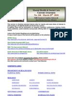 Mental Health Bulletin No. 246 March 29th 2010