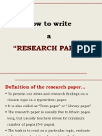 Writing Research Paper