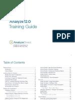Analyze Training Guide