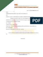 Carta Banco de La Nacion 2014