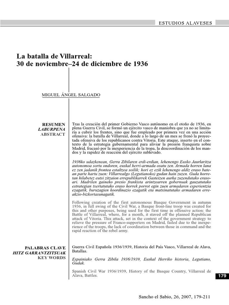 La Batalla de Villarreal