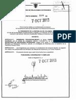 Acto Administrativo, Decreto 2199 07 Oct 2013 Daniel Mesa Salazar