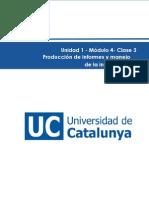 Clase 3. Producción de Informes y Manejo de La Información