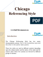 Chicago Referencing Style-HelpWIthAssignment