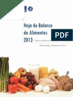 Hoja de Balance de Alimentos