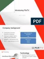 Prezentace Flix.TV pro obchodní partnery