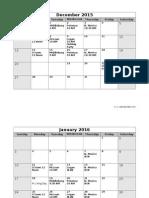 2015/2016 Meeting Schedule