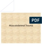 Musculoskeletal Trauma Ch 43 and 41-2
