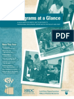 2010-2011 HRDC Programs at a Glance