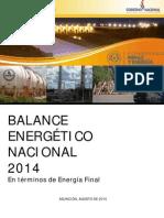 Balance Energético Nacional 2014 Paraguay