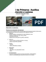 Manual de Primer Auxilios Atencion a Lesiones