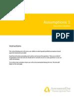 CT1 Assumptions Questions