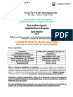 Aspirantes Nuevos Pregrado Sede Medellin 2016-1