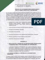 Acta Organizaciones Agropecuarias y Pesqueras