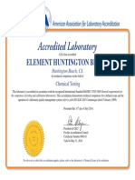 A2LA ISO 17025 Certificates and Scopes of Approval