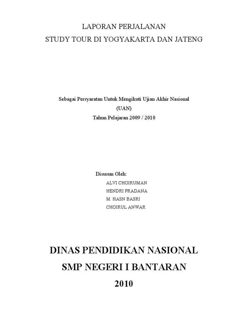 Contoh Laporan Ujian Nasional Smp Seputar Laporan