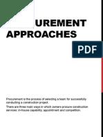 Procurement Approaches