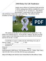 2009 Relay for Life Fundraiser