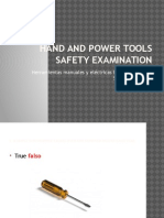 Hand and Power Tools Safety Examination