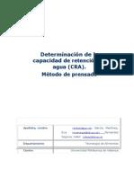 Determinación CRA_método Prensado