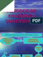 Los Métodos de Enseñanza Universitaria