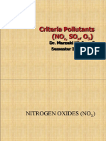 AIR QUALITY AND POLLUTION (TKA 3301)  LECTURE NOTES 9- Criteria Pollutants (NOx, SOx, O3)