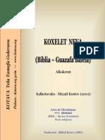 Kohelet (Ecclesiastes) book in Kotava