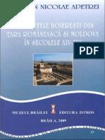 Resedintele Boieresti Din Tara Romaneasc