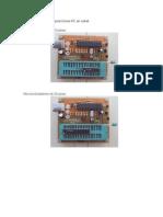 Programador PICKIT2 Posiciones PIC en Soket