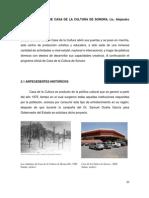 planos Casa de La Cultura de Sonora