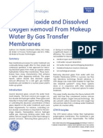 Carbon Dioxide and Dissolved Oxygen Removal From Makeup Water By Gas Transfer Membranes