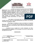 Carta de Funcionamiento -Rio Acarigua