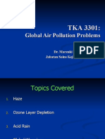 AIR QUALITY AND POLLUTION (TKA 3301)  LECTURE NOTES 12- Global Air P Problem
