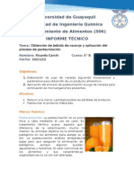 Informe Pasteurizacion Lab