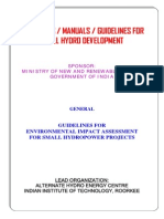 Guidelines for Environmental Impact Assessment for Small Hydropower Projects