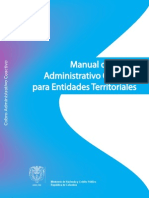Manual de Cobro administrativo coactivo para entidades territoriales